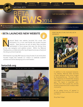 Beta News Fall edition
