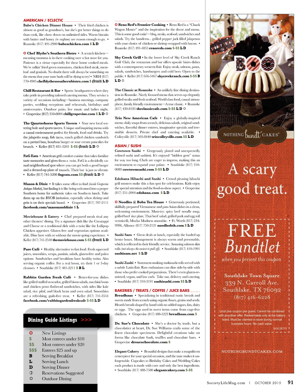 Society Life October 2015 Page 91