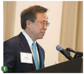 """1. Henry W. Lim, MD, AAD president, provided an overview of the Academy's strategic priorities including """"to continue the Academy's mission as the unified voice of dermatology and expand the diversity in our profession."""" 1 of 6"""