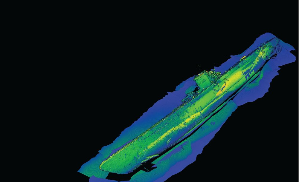 3D Model of German U-576. Photo credit: NOAA and 2G Robotics.