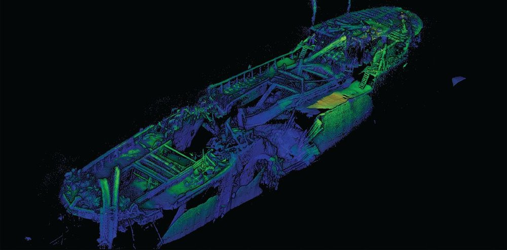 3D model of Bluefields showing extensive damage. Photo credit: NOAA and 2G Robotics.
