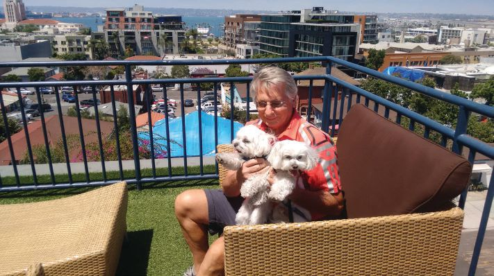 Enjoying the view from the Hotel Porto Vista ANTHONY GRANT