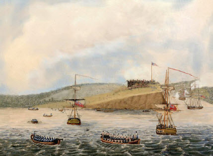 The British attack on Fort Ontario, May 6th, 1814