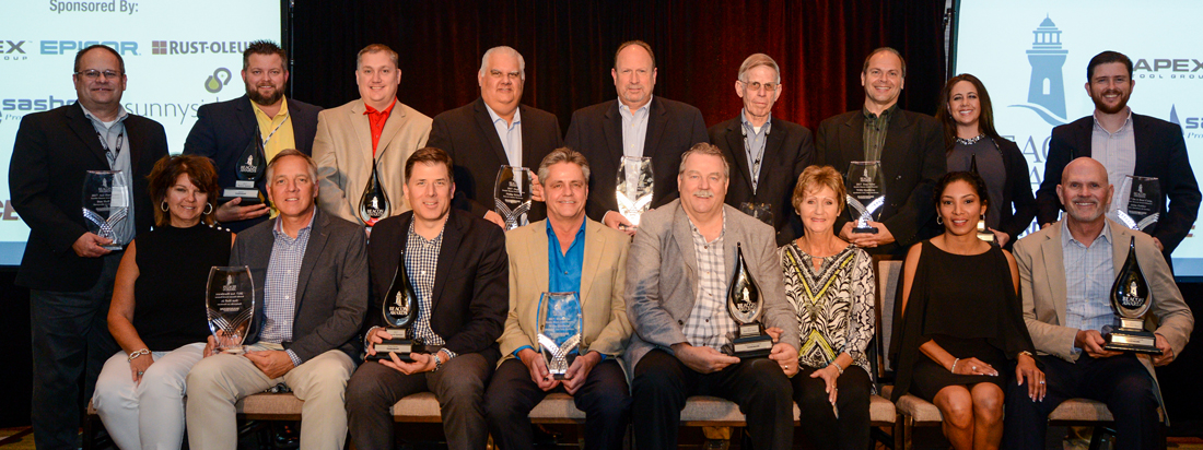 The honorees and sponsors of the 2017 Beacon Awards.