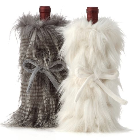 Wrap up a favorite winter warmer in the faux fur Corseca wine bag for the mostest sort of hostess gift. $12.95, Z Gallerie. Photo courtesy of Z Gallerie