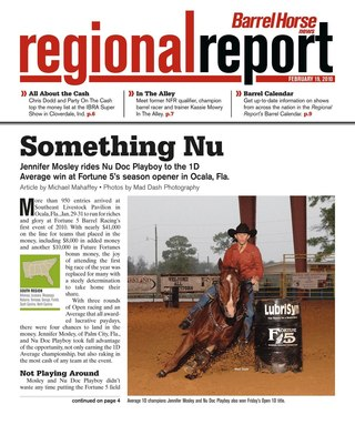 Barrel Horse News Regional Report