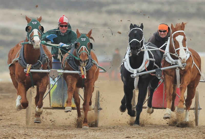 The chariots rumble close to 40 mph.  Photo by Michael Smith