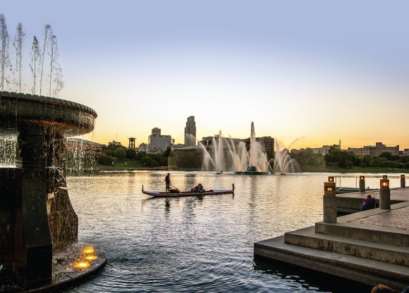 Omaha's riverfront provides beautiful views as well as recreational opportunities.