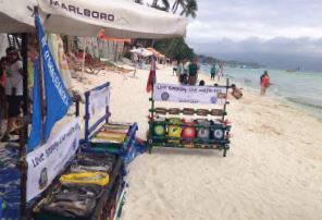The Boracay Malay Amity Lions Club in the Philippines organized an environmental awareness campaign to make separating trash from recyclables fun.