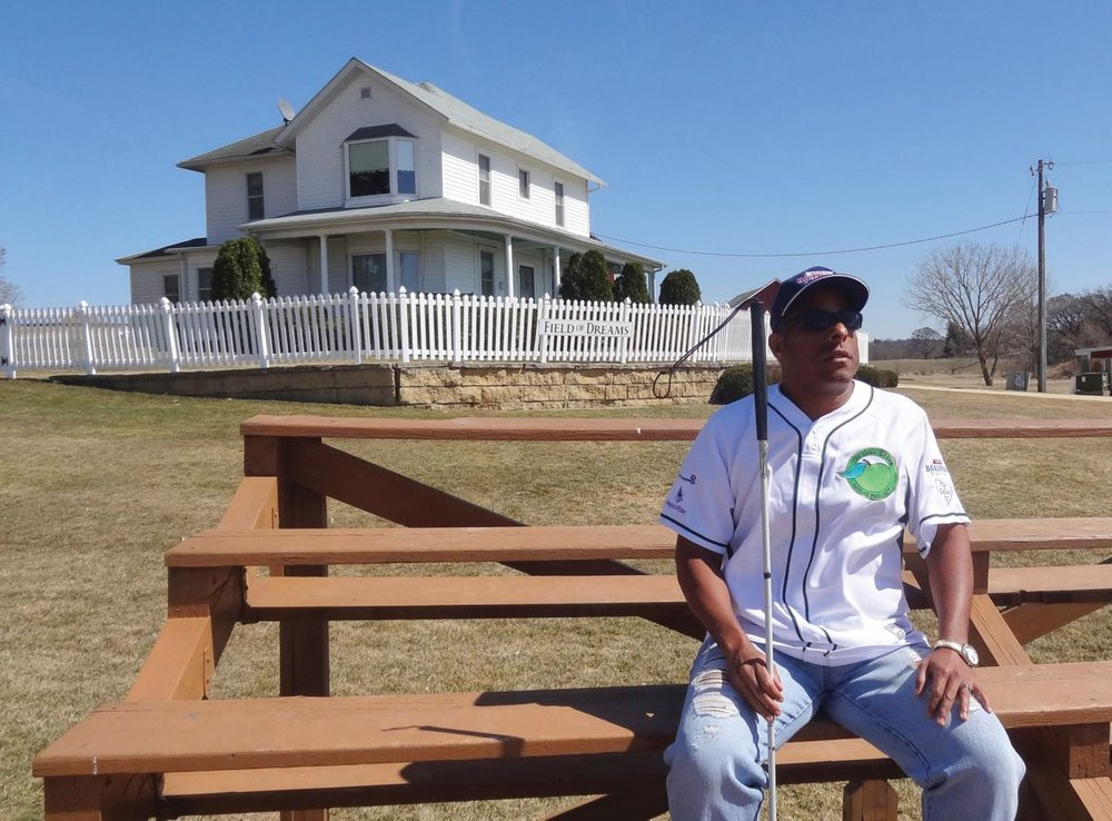 Where else would Smith visit but the Field of Dreams site in Iowa?