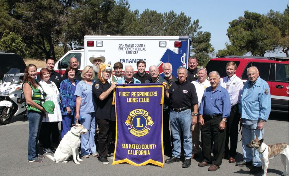 Members of the San Mateo County First Responders Lions Club serve the region between San Francisco and Palo Alto.