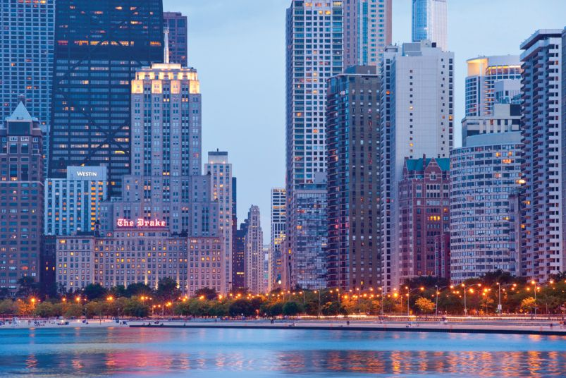 Chicago's lakefront is a popular spot for both Chicagoans and visitors.