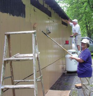 Spring Township Lions in Pennsylvania renovated a popular park picnic facility.  Lions and their families volunteered more than 1,000 hours of labor to remove old siding and install new siding with two coats of paint to preserve it.  They also completely rehabbed the facility's interior and installed a new stainless steel grill area with added benches and storage cabinets.  Lions spent $5,150 on materials.