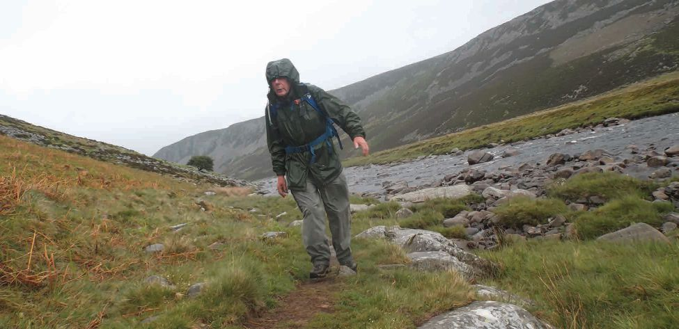 Keith Ogley battles the elements in Upper Teesdale.