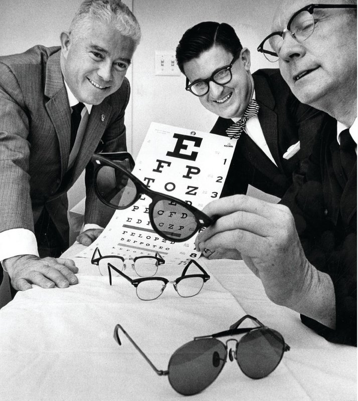 Van Nuys Lions in California get ready for eye exams at the Salvation Army in the early 1960s.