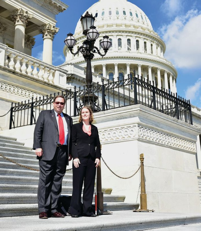 Bill Spencer and Karla Gilbride belong to the innovative Capitol Hill Lions Club in Washington.