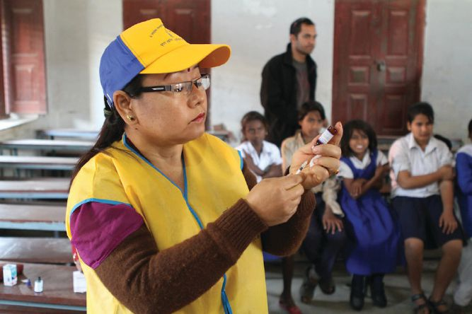 LCIF needs the support of Lions to protect millions of children from measles.