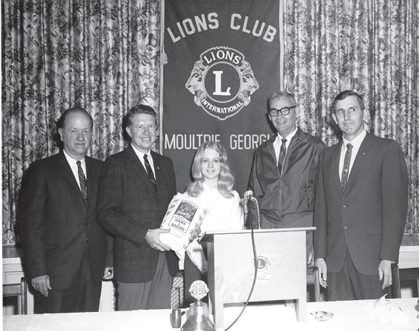 District Governor Jimmy Carter pays a visit to a Lions club in Georgia.