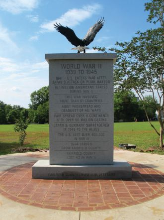 Legacy Projects run the gamut.  Winnsboro Lions in South Carolina erected a World War II Memorial.