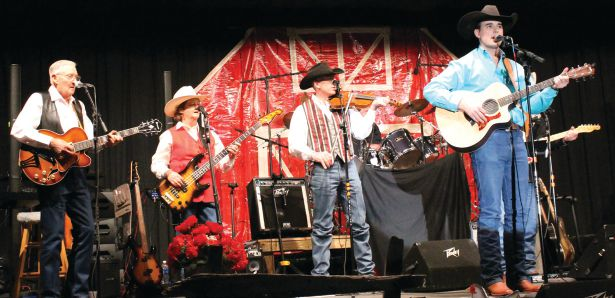 Will Bannister performs with the band at the annual Floyd Lions Jamboree in Floyd, New Mexico.