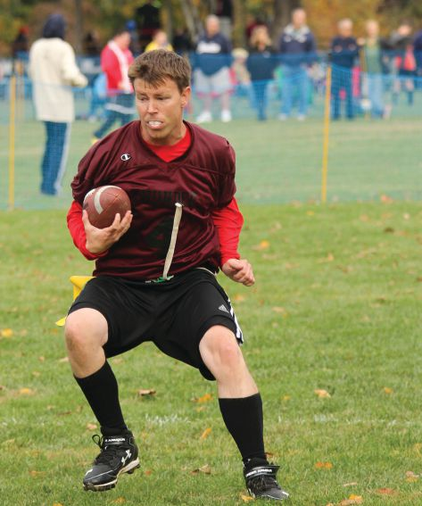 Rodenbeck has played in flag football for Special Olympics since 2007.