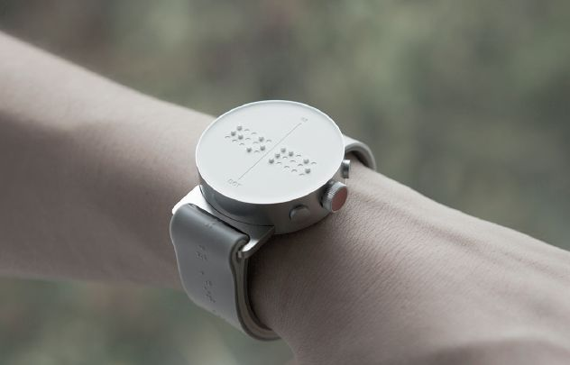 The Dot Watch displays time, texts and tweets in braille.