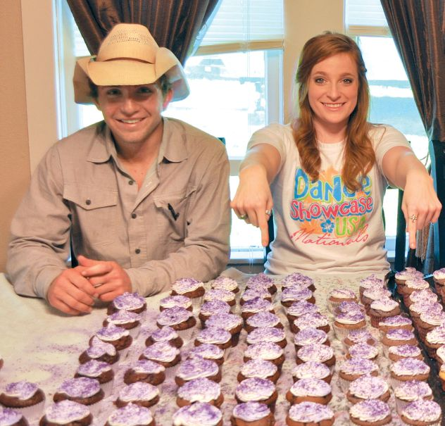 Lions Anthony and Nicole Cook baked and sold purple cupcakes to support the Great Purple Cupcake Project, an epilepsy awareness event for World Epilepsy Day.
