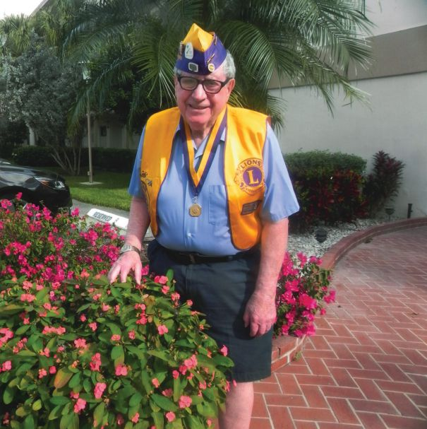 New Jersey Lion Marshall Klein is 90 and retired, spending his winters in Florida, but he will never stop being an interested and involved Lion.
