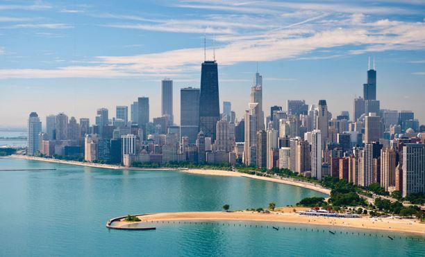 The skyline and North Avenue Beach are two attractions of our centennial convention city.