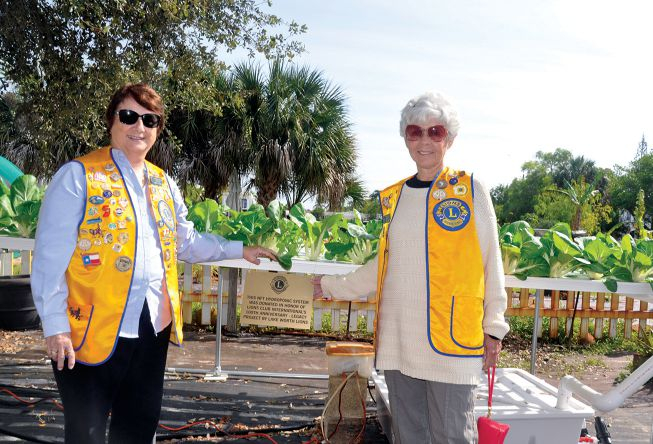 President Andrea Thomas (left) and Treasurer Linda Caruso are proud of their club's innovative Legacy Project.