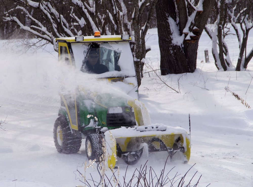 Frank Neu clears another property of the ubiquitous white stuff.