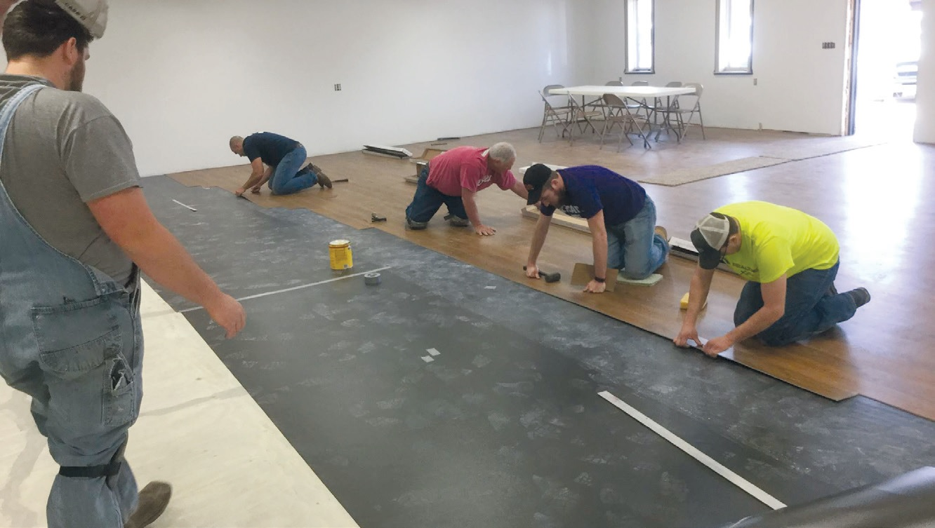 The Brewster Lions in Kansas provided a new gathering spot for a thankful community with money, time, and lots of labor.