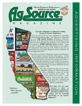 AG Source Media Kit