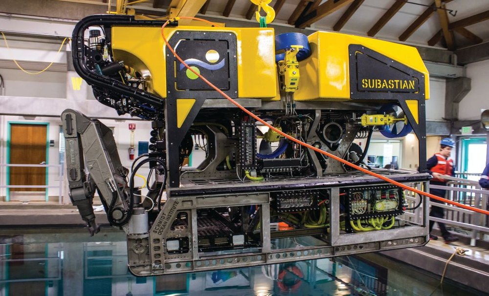 The new, state-of-the-art Schmidt Ocean Institute 4500m ROV, SuBastian, uses Greensea's OPENSEA operating platform for vehicle control and device management including multiple sonars (scanning and multibeam), cameras, navigation sensors, and scientific instruments.