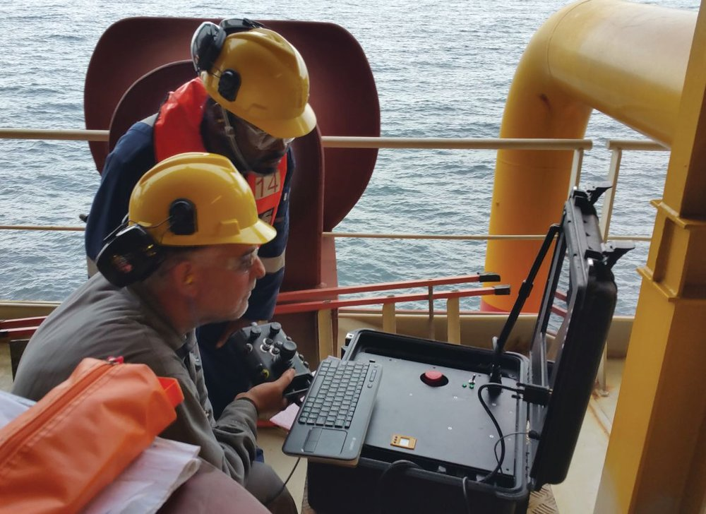 Mission Specialist Operation on FPSO deck; note the small space requirement.