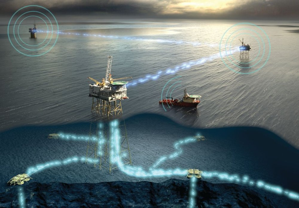 Fiber-based, high-speed, low-latency IT infrastructure required for the modern oil field. Image by Tampnet.