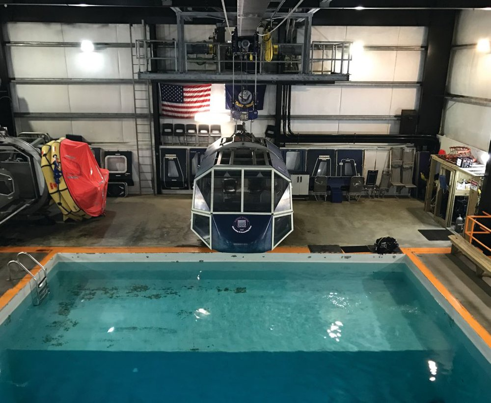 "Facilities at Survival Systems USA include Modular Egress Training Simulator and full environmental suite of equipment— allowing the ""perfect storm"" indoors for training. Photo credit: Survival Systems USA, Inc."