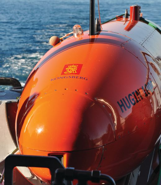 HUGIN can operate at depths to 6,000 m for over 75 hours at a time.