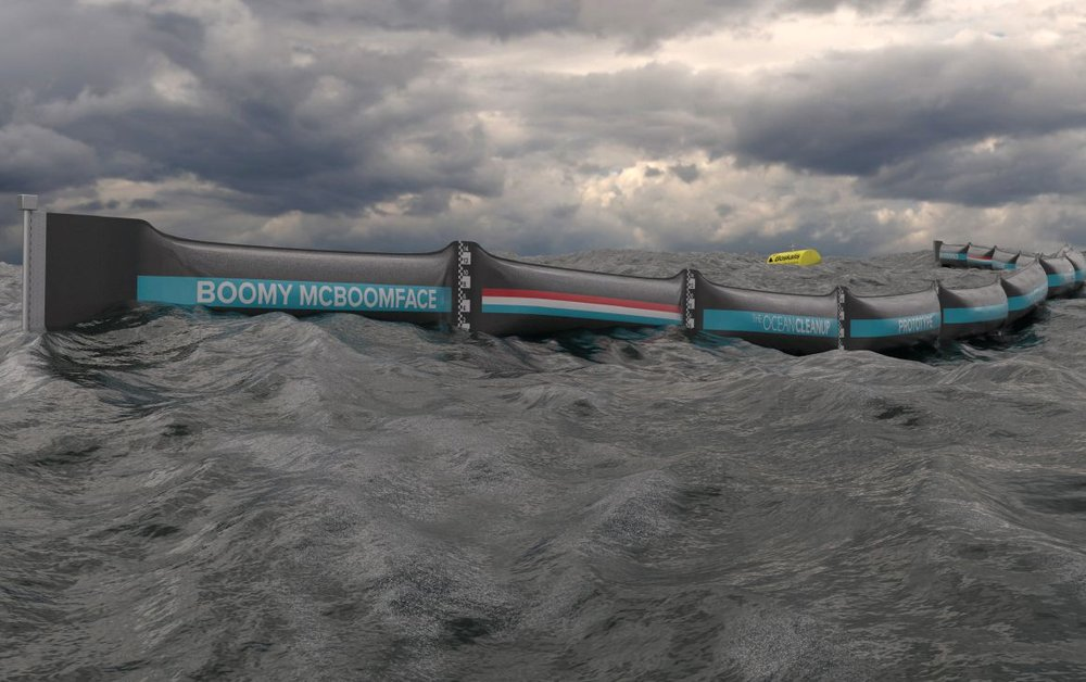 North Sea prototype. Photo credit: Erwin Zwart/The Ocean Cleanup. 3 of 5