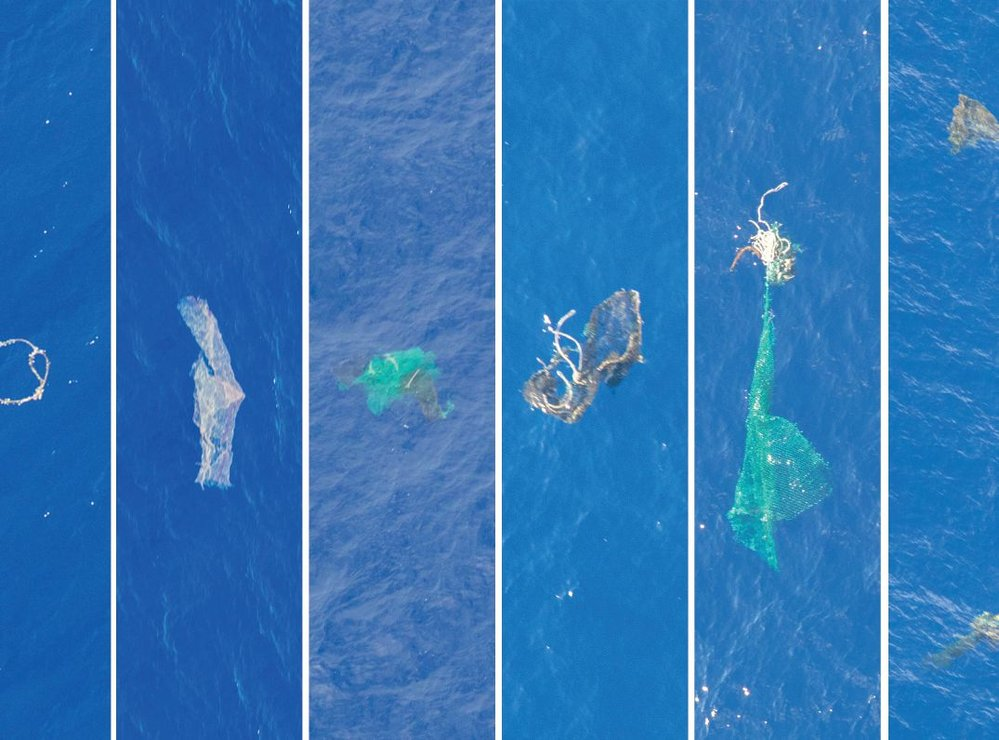 A selection of large objects observed in the Great Pacific Garbage Patch during the aerial expedition. Photo credit: The Ocean Cleanup. 5 of 5