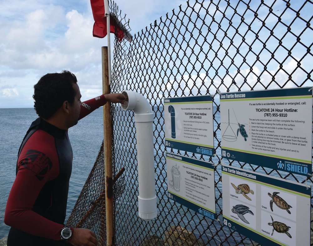 Loggerhead Marinelife Center's Responsible Pier Initiative was created to educate anglers and other pier-goers about responsible fishing practices, such as reducing marine debris and responding to a sea turtle hooking. The RPI program provides free signage, equipment and first responder training courses to more than 40 participating piers.