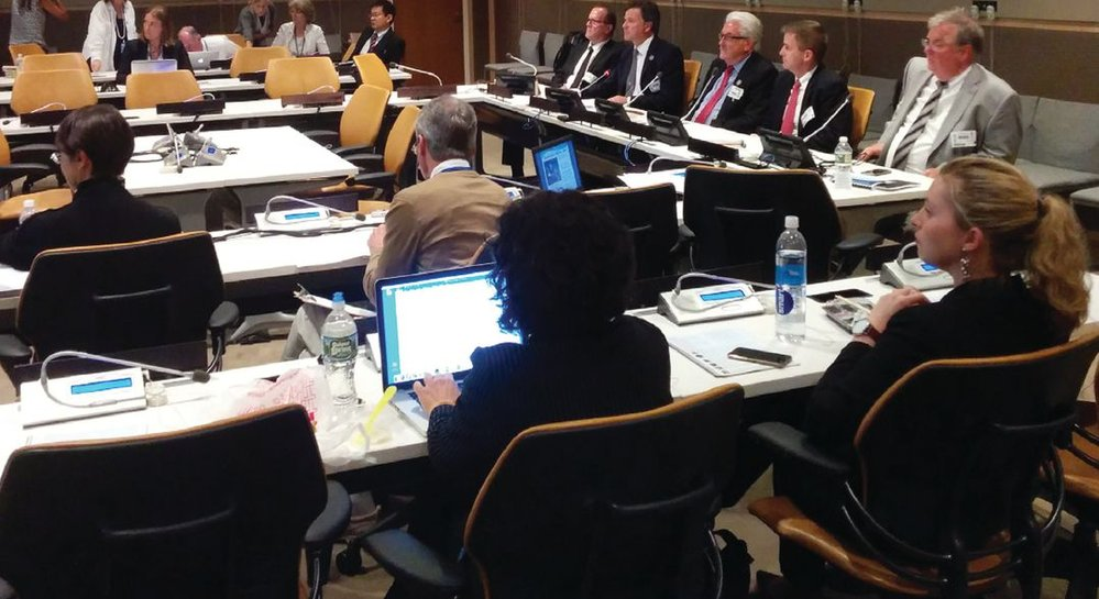 The International Cable Protection Committee presents its white paper at UN headquarters in New York. Photo courtesy of ICPC.