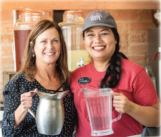 Volunteers Julie Kramer and Diane Nguyen has donated a combined 540 hours at the Taste project.