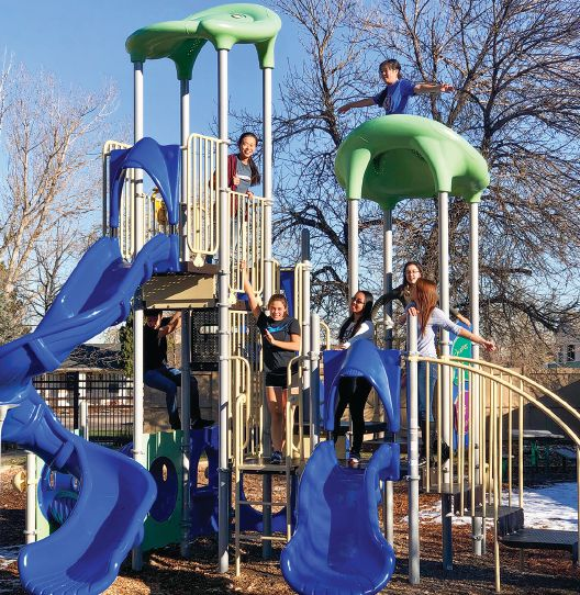 The community recently upgraded its playground, installing new equipment and resurfacing the ground.