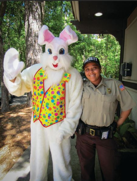 HOPPY MOMENTS. Despite canceled Easter festivities, residents at Hilton Head Plantation Property Owners' Association in South Carolina put up decorations and had baskets filled with candy delivered to their doorsteps by the Easter Bunny.