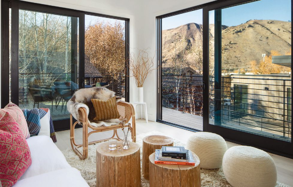The homes offer spectacular views of the Teton Mountain range.