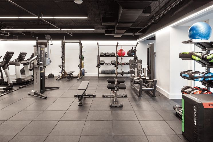 The Hayworth's fitness center is programmed by The Wright Fix