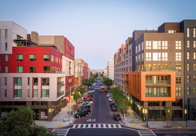 KTGY has designed Fourth Street East retail/coworking/apartment complex for Carmel Partners