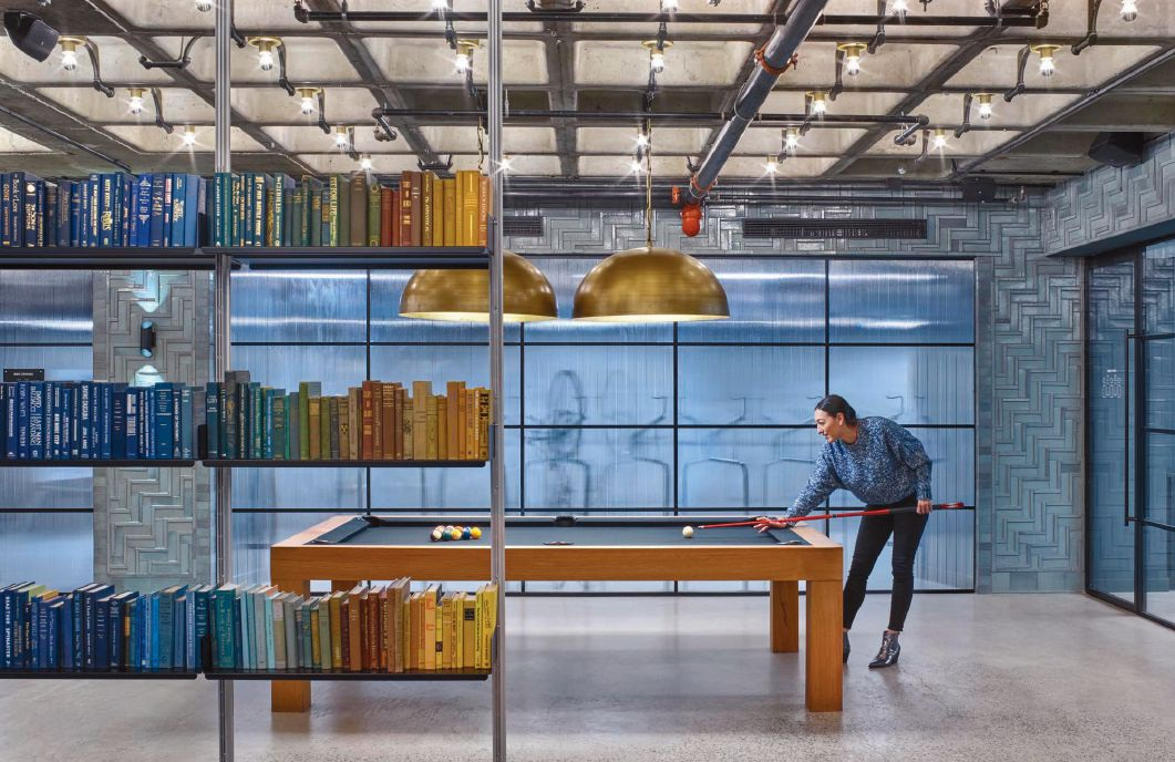 Adding leisure to office spaces will still be popular Photo courtesy of Nelson Worldwide