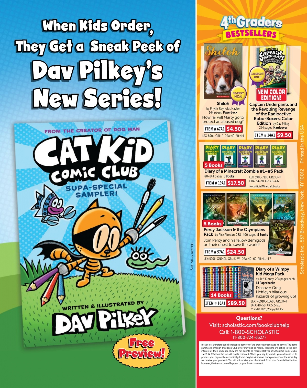 Scholastic Book Clubs All Digital Flyers For 4th Grade September 2020